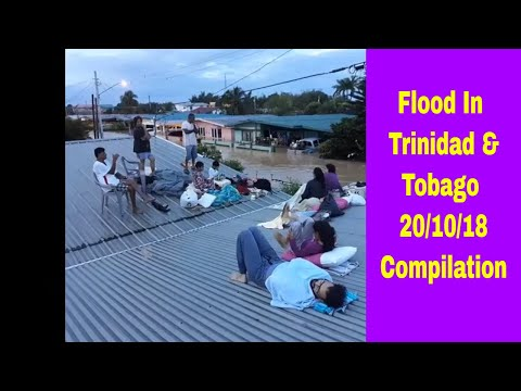 Flood in Trinidad and Tobago compilation 20th October 2018