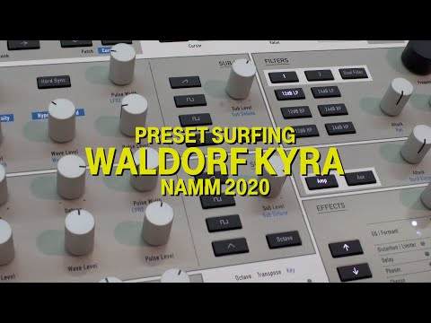 Surfing the Waldorf Kyra at NAMM 2020