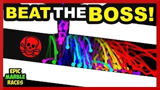 Today is the Beat the boss marble race. This marble run has a track...