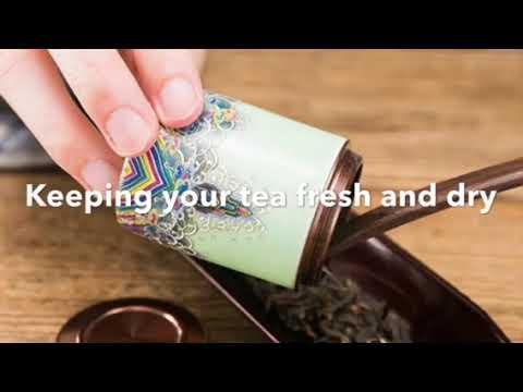 Kansoka ceramic & metal Tea Canister