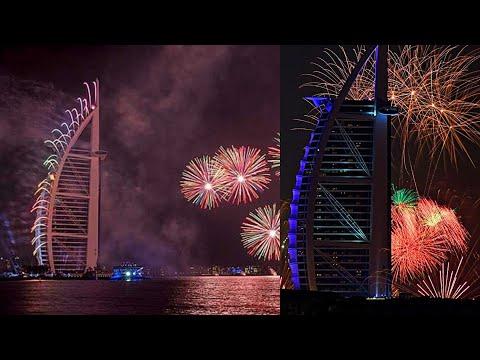 New year Eve 2020 Fireworks at Burj Al Arab, Jumeirah Dubai 2020