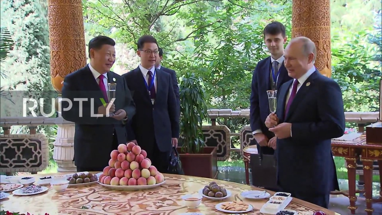 Happy Birthday Putin Surprises Xi Jinping With Cake And Ice Cream