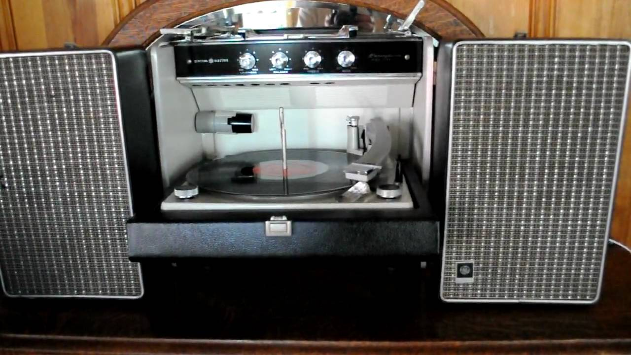 Ge Portable Record Player Youtube
