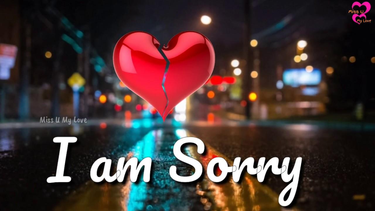 Im Sorry Whatsapp Status Video For Love Miss U My Love Youtube