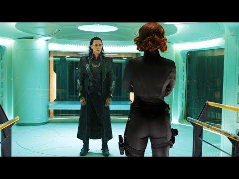 Black Widow Tricks Loki Scene - The Avengers (2012) Movie CLIP HD