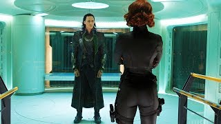 Black Widow Tricks Loki Scene - The Avengers (2012) Movie CLIP HD