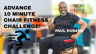 Chair Fitness 10 Minute Challenge! + Abs - 100% Seated Cardio Exercise! | Sit and Get Fit!