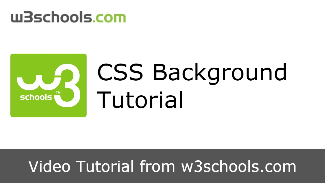 W3schools css background tutorial youtube w3schools css background tutorial stopboris Images