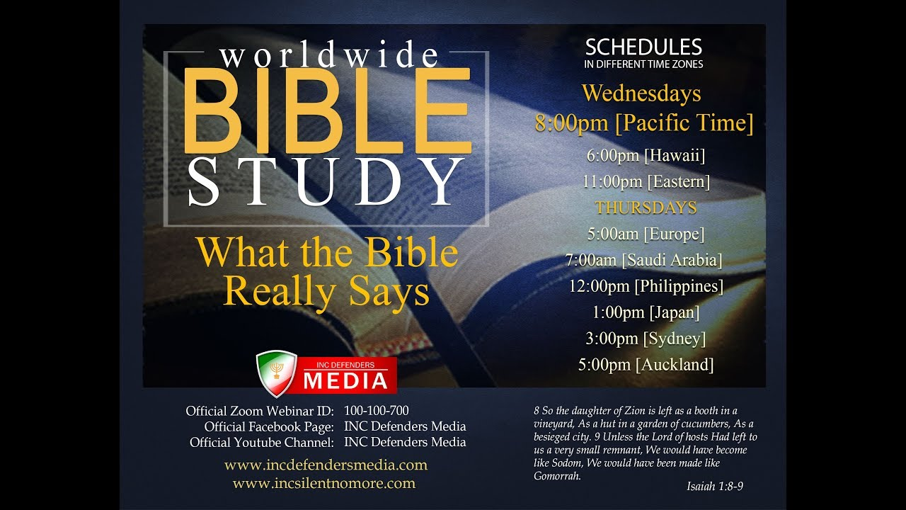 Worldwide Bible Study - January 24, 2018