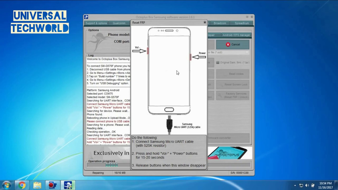 octopus samsung frp tool 2017 16 5 with crack
