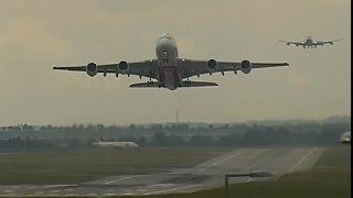Boeing 747 meets Airbus A380 Prague Vaclav Havel Airport
