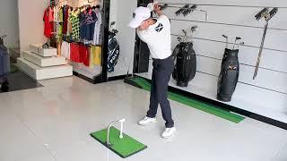 집에서 골프 기구 실내 연습기 매트 어프로치 아이언 드…