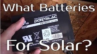 What Type Of Batteries To Use For Solar