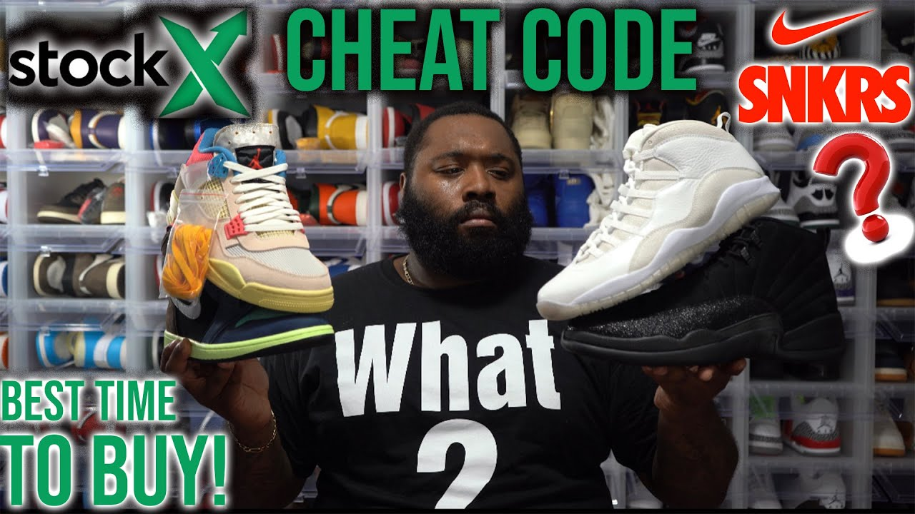 STOCKX CHEAT CODE FOR RESELLERS AND BUYERS! WHEN YOU SHOULD BUY SNEAKERS ON STOCKX! SNKRS APP DROP?