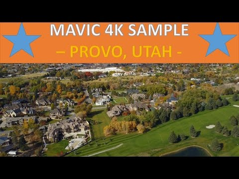 DJI Mavic Pro 4K Video! Provo, Utah