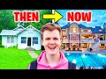 Gambar cover 5 YouTubers Houses Then And Now! LankyBox, MrBeast, Jelly, Unspeakable