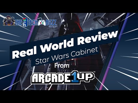 Real World Review of the Star Wars Sit Down cabinet from Arcade1up from The Tech Buzz