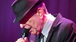 Leonard Cohen. Anyhow. Centre Bell, Montreal, Canada. 29th November 2012.MOV