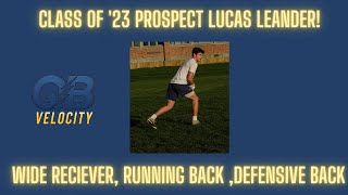 Lucas Leander 2023 Wide receiver/Running Back Rockland High : Training Highlights 3.95 GPA 4.6 40!