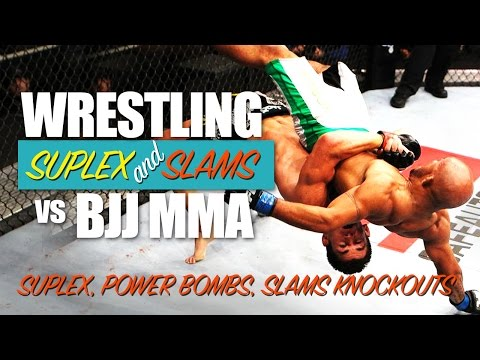 Wrestling vs BJJ ✓ KO BOMBS, SUPLEX, SLAMS in MMA