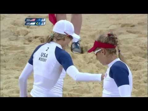 Women's Beach Volleyball Preliminary Round  USA v ARG  London 2012 Olympics