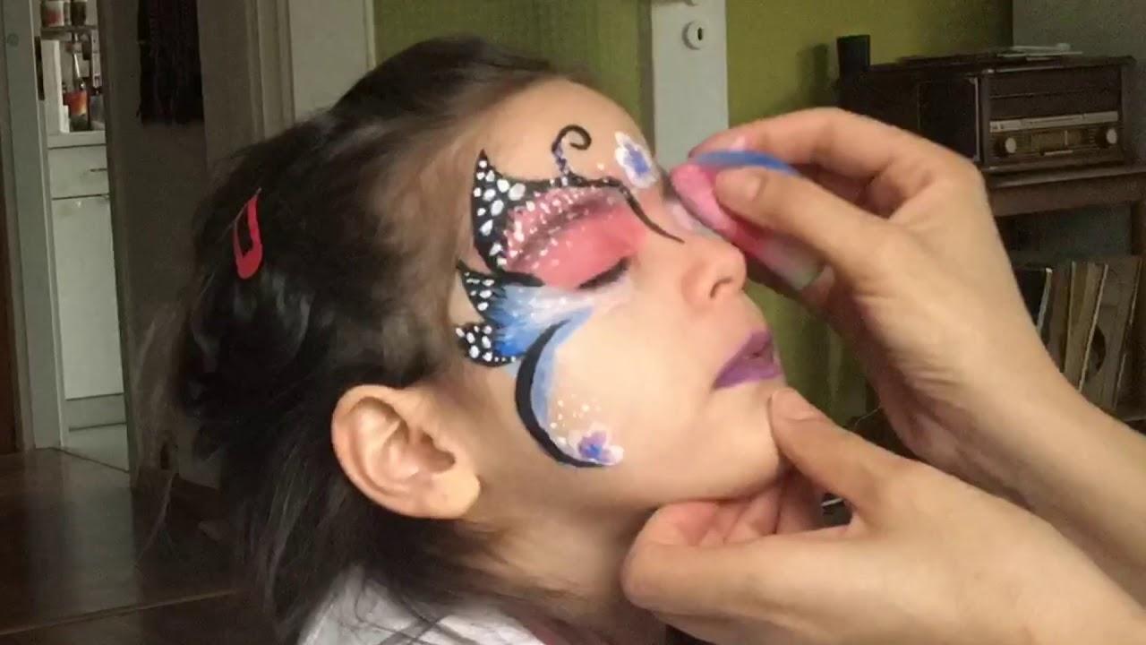 Yüz Boyama Kelebek Makyajı Face Painting Butterfly Youtube