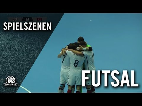 Deutschland - England (Futsal-Länderspiel, Test-Rückspiel) - Spielszenen | ELBKICK.TV