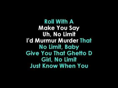 No Limit Karaoke Usher feat  Young Thug | GOLDEN KARAOKE