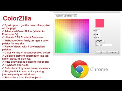 Chrome - ColorZilla - How to find the exact color used on any web ...