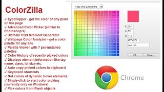 Chrome - ColorZilla - How to find the exact color used on any web page right within Chrome