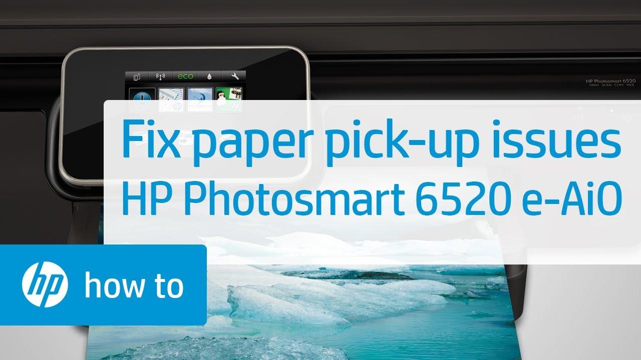 Fixing Paper Pick Up Issues Hp Photosmart 6520 E All In One Block Diagram Hpdeskjet5007008001050 Printer Youtube