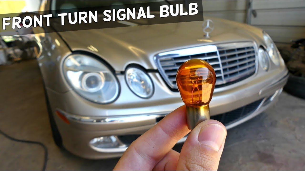 MERCEDES W211 FRONT TURN SIGNAL LIGHT BULB REPLACEMENT REMOVAL