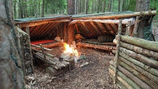 Overnighter at the SUPER Shelter plus expansion #bushcraft #supershelter
