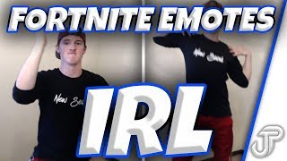 FORTNITE EMOTES IN REAL LIFE!! (Billy Bounce, Groove Jam & MORE) #KARNAGERC