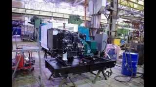видео АД30-Т400 Дизельный генератор 32 кВт открытая на раме на CUMMINS