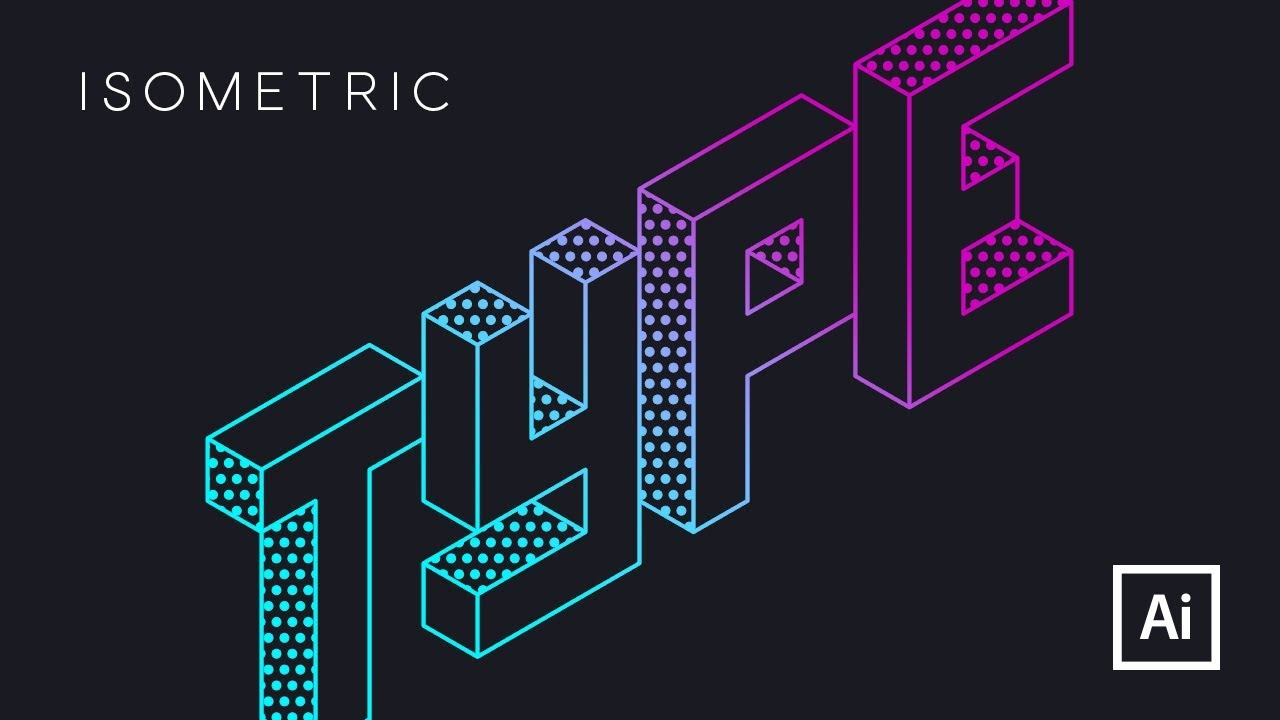 Isometric Logo Glitch By Obispost: How To Draw ISOMETRIC TYPE In ADOBE ILLUSTRATOR The Easy