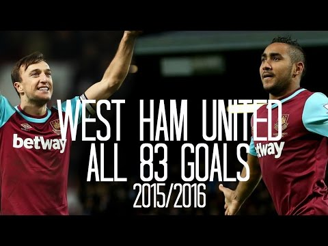 West Ham United - All 83 Goals - 2015/2016 - English Commentary (Just Goals)