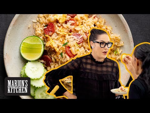 The Fried Rice I Ate Growing Up - Chinese Sausage & Egg Fried Rice- Marion's Kitchen
