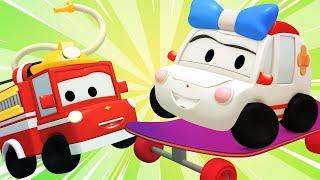 Die winzige Stadt -  Skater - Lerne mit den kleinen Trucks 👶 🚚 Lehrreiche Cartoons für Kinder