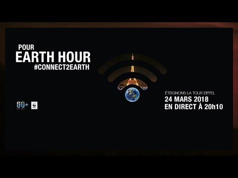 #Connect2Earth : Earth Hour 2018, en direct, éteignons la tour Eiffel
