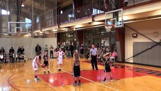 12 29 2013 Peters Township 5th Grade Girls Travel vs Upper St  Clair  Second Half Championship
