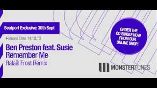 Ben Preston feat. Susie - Remember Me (Rafaël Frost Radio Edit)