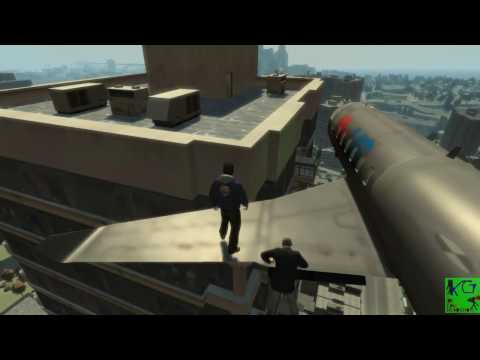 Grand Theft Auto Iv  - Free running Chase