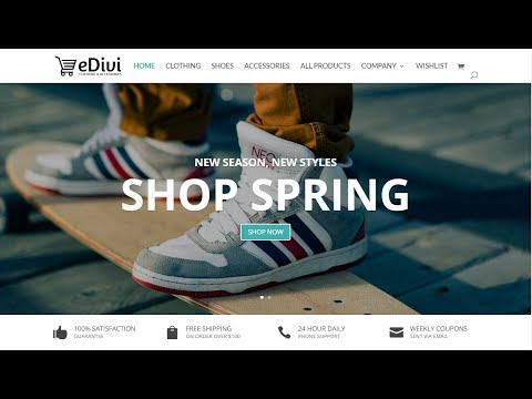 How To Create An eCommerce Website With WordPress 2017 - Divi Theme Tutorial - Online Store