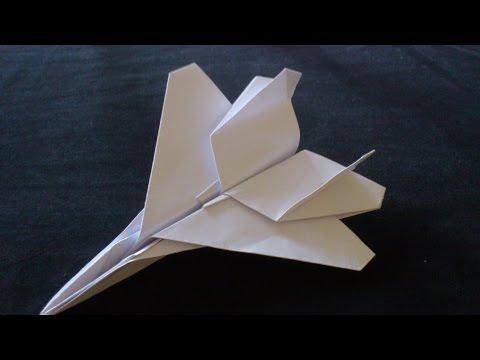 Cara Membuat Origami Pesawat  F-15 The Eagle Jet | Origami Pesawat