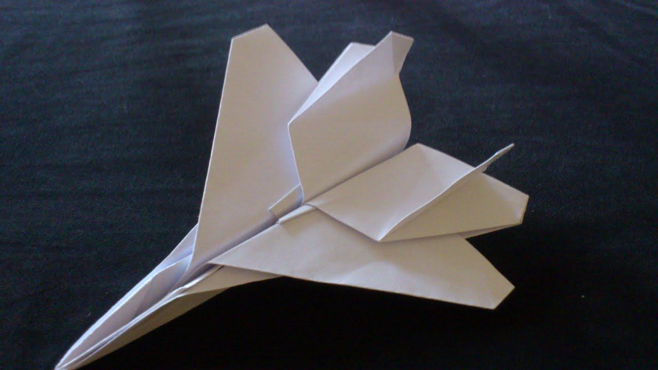 tutorial origami pesawat jet