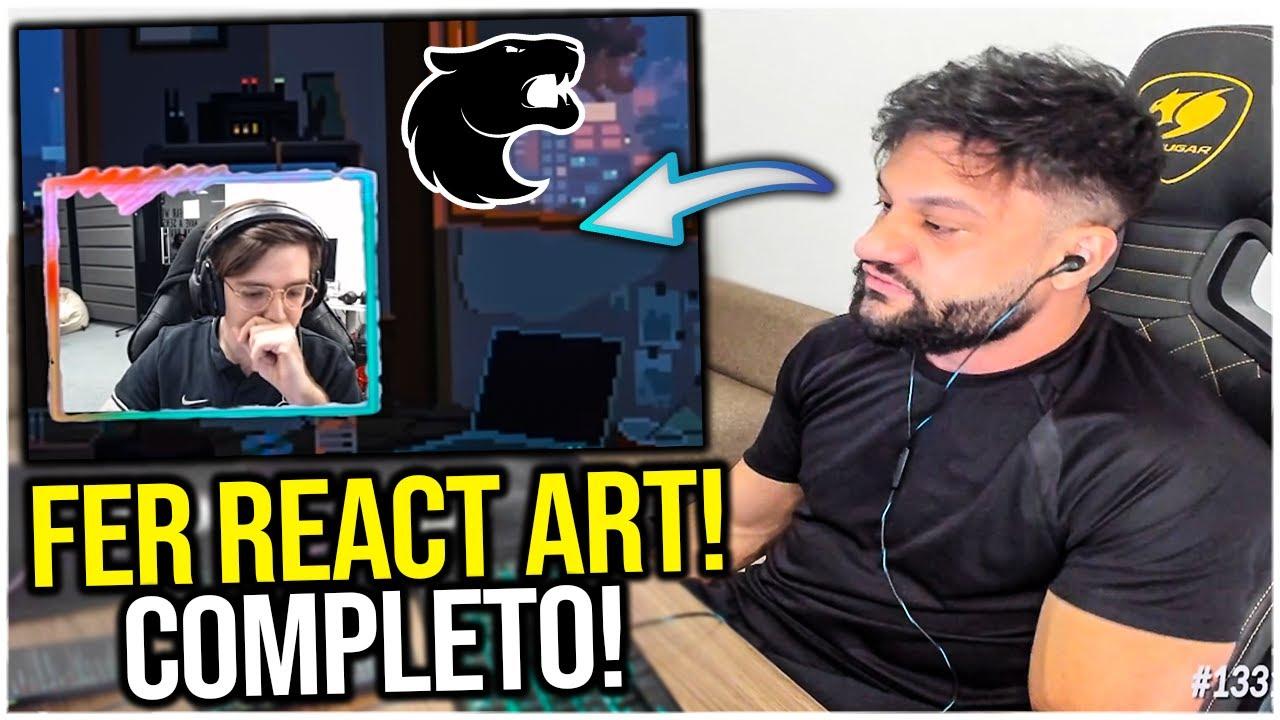 FER REAGE AO VIDEO DO ART FARPANDO ELE! (COMPLETO)