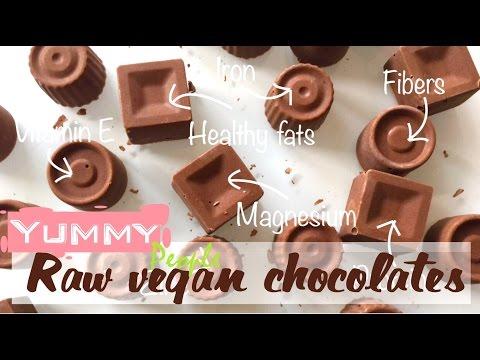 "How to make raw chocolate bar with ""milk""-vegan (EASY recipe)"