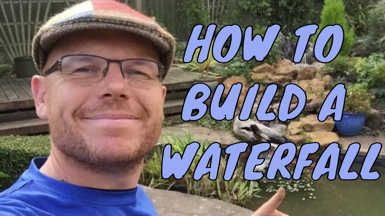 How to build a waterfall with rocks | garden pond ...
