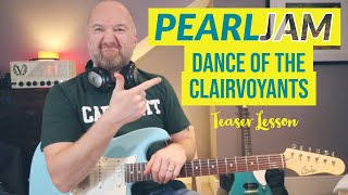 how to play -dance of the clairvoyants- by pearl jam | instagram teaser guitar lesson